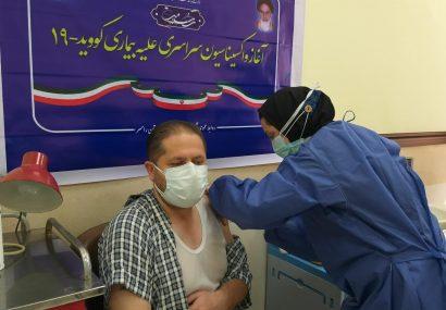واکسینه ۱۲۰ مدافع سلامت رامسری طی دو مرحله